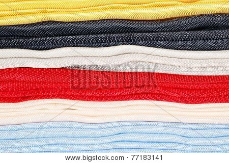 Various colorful fabric as background