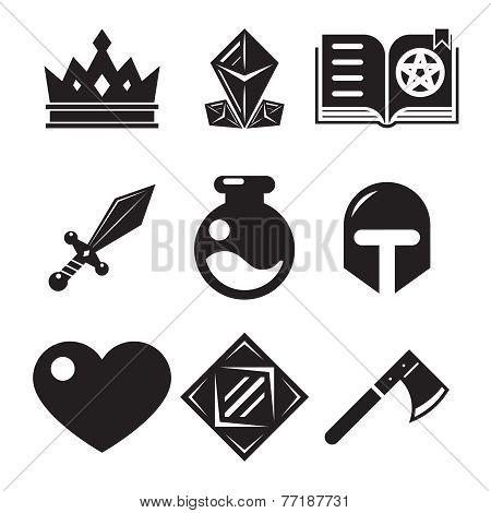 Fantasy game icons