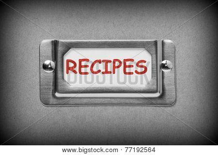 Recipes Drawer