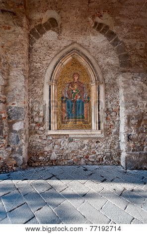 Mosaic of Madonna in Taormina