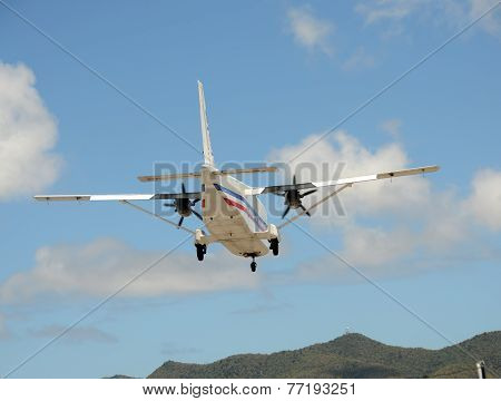 Propeller Airplane Rear View