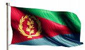 image of eritrea  - Eritrea National Flag Isolated 3D White Background - JPG