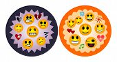 stock photo of positive negative  - The expression of positive and negative emotions - JPG