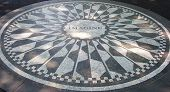 image of unity candle  - Strawberry Fields mosaic in New York City  - JPG