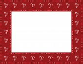 picture of candy cane border  - Christmas candy cane patterned frame with beaded mosaic border - JPG