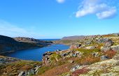 picture of mountain chain  - This photo was taken in the north of Kola Peninsula in Russia end of September 2014 - JPG