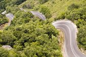 stock photo of veer  - challenging mountain road - JPG