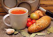 Постер, плакат: Cup With Tomato Soap