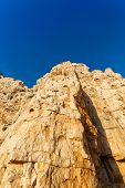 foto of grotto  - high cliffs and sea Neptune Grotto in Sardinia Italy - JPG