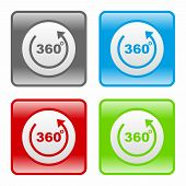 stock photo of degree  - 360 degrees icon as a symbol of 360 degrees - JPG