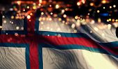 pic of faroe islands  - Faroe Islands National Flag Light Night Bokeh Abstract Background - JPG