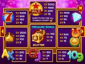 stock photo of coin slot  - Info screen for slots game - JPG