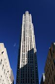 image of rockefeller  - Rockefeller Center during the morning in New York City - JPG