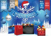 stock photo of year end sale  - Winter sales advertising poster for print - JPG