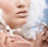 pic of gem  - Closeup photo of luxury crystal gem held by woman - JPG