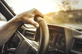 stock photo of driving  - Man driving his car - JPG