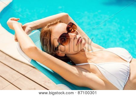 Enjoying Her Summer Vacation.