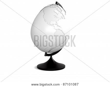 egg with earth texture over white background, isolated