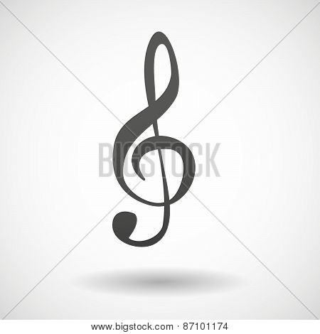 Grey G Clef Icon