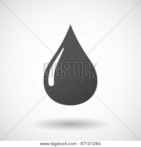 Grey Oil Drop Sign