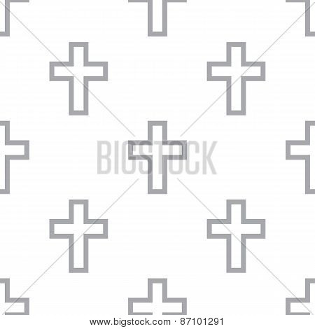 New Protestant Cross seamless pattern