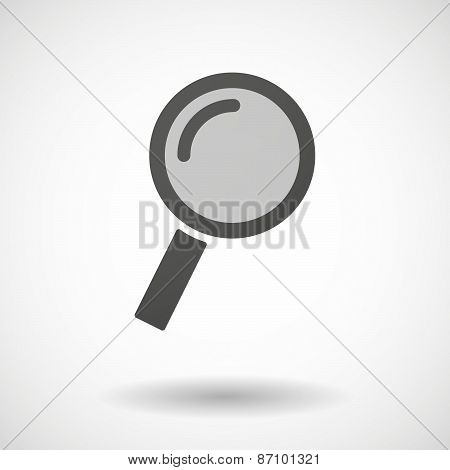 Grey Magnifier Icon