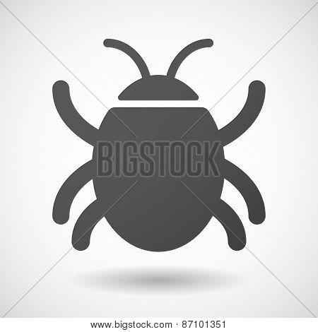 Grey Bug Icon