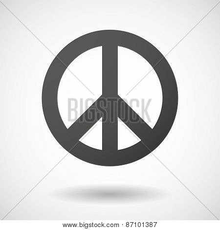Grey Peace Sign