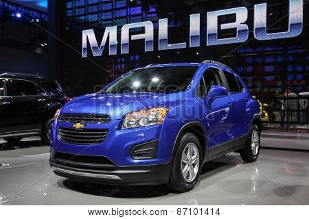 NEW YORK - APRIL 1: Chevrolet exhibit Chevrolet Trax LT at the 2015 New York International Auto Show during Press day,  public show is running from April 3-12, 2015 in New York, NY.
