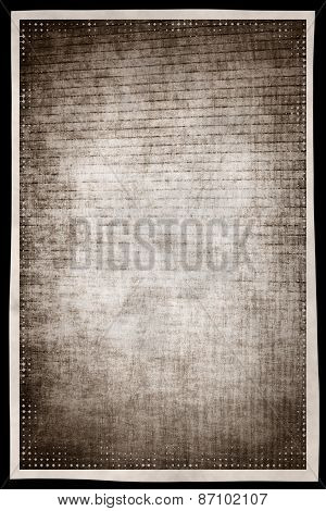 Monochrome Grunge Abstract Background With Film Effect Border Frame.