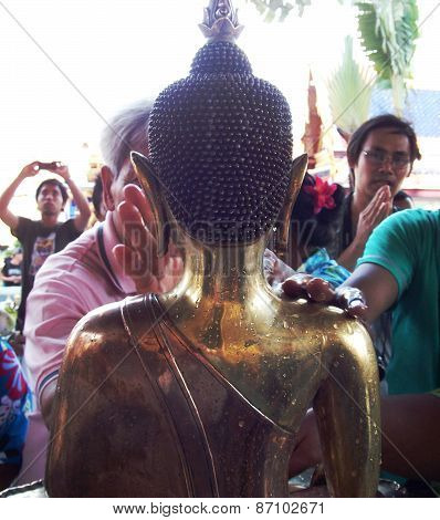 Songkarn festival in Thailand 2012