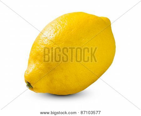 Fresh Yellow Lime, Lemon rich witch vitamin C isolated on white bacground