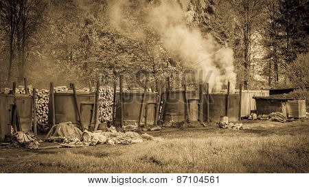 Traditional Way Of Charcoal Production