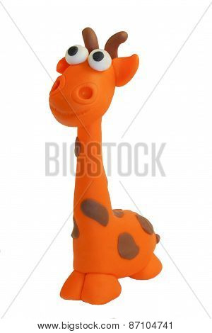 toy from clay a giraffe