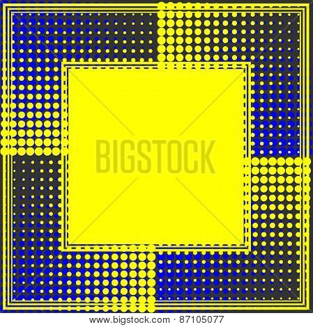 Yellow Dots Border