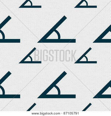 Angle 45 Degrees Icon Sign. Seamless Pattern With Geometric Texture. Vector