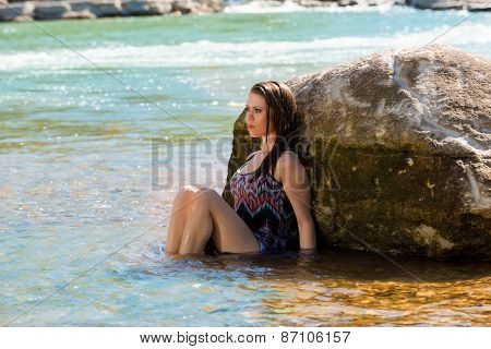 Attractive Model Relaxes In A Small River