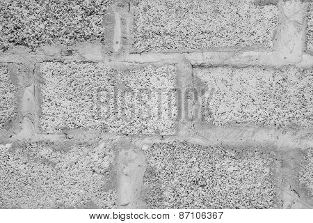 Porous Blocks stone wall.