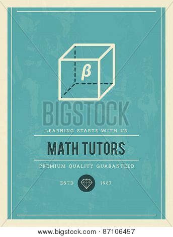Vintage Poster For Math Tutors
