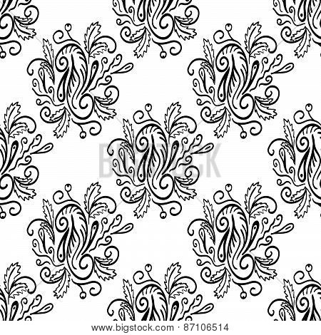 Seamless Pattern With Natural Ornament