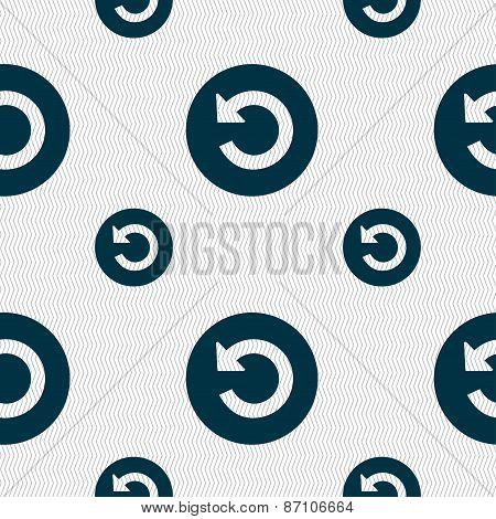Icon Sign. Seamless Pattern With Geometric Texture. Vector
