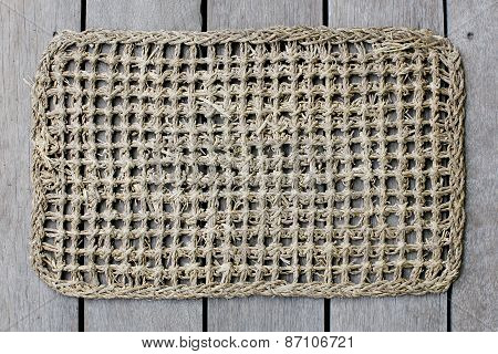 Rattan Mat Background Texture.