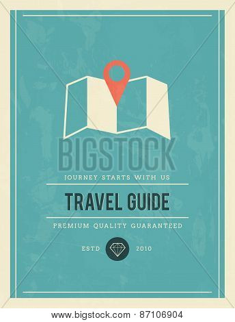 Vintage Poster For Travel Guide