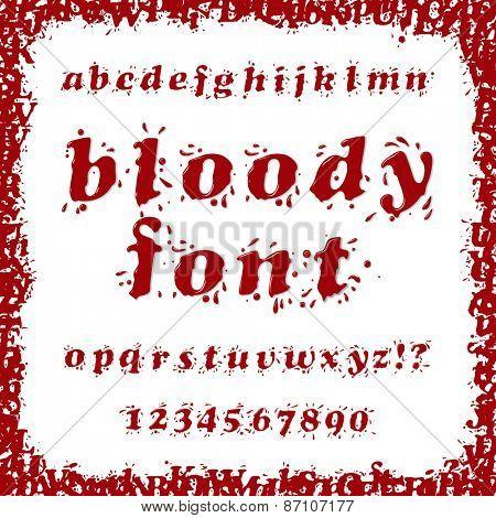 Bloody Splash Font Set