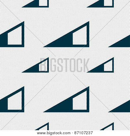 Speaker Volume Icon Sign. Seamless Pattern With Geometric Texture. Vector