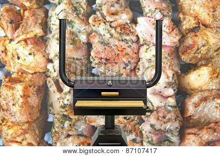 Multifunctional Cooking Oven, Kebab.