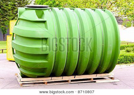 grüne tank