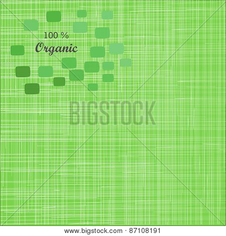 Green cloth texture background. Book cover. Fabric bright ecological canvas wallpaper with delicate