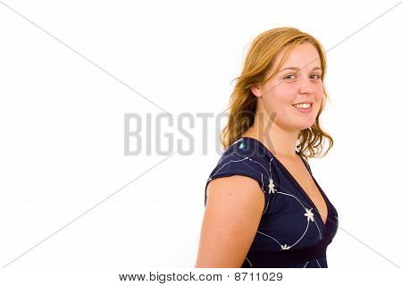 Young Casual Blonde Woman
