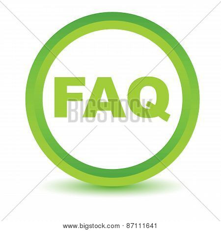 Green faq icon